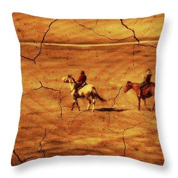 Across The Prairie Throw Pillow