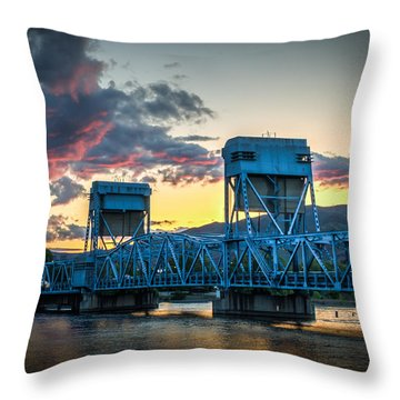 Across The River Throw Pillow by Brad Stinson
