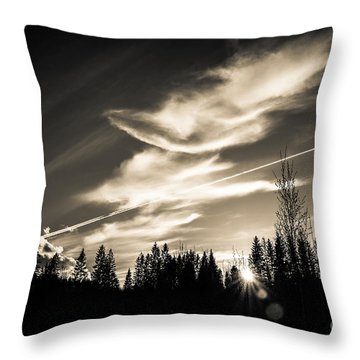 Across The Sky Throw Pillow