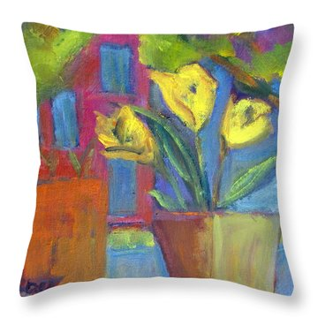 Across The Street From My Window Sill  Throw Pillow by Betty Pieper