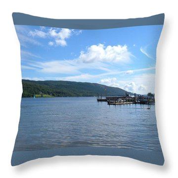 Across The Water Throw Pillow