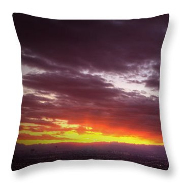 Across Vegas Sunset Throw Pillow