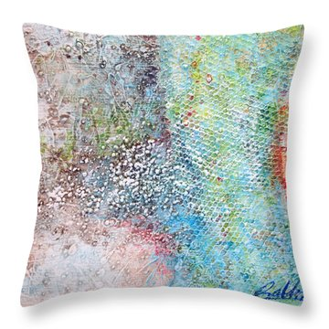 Throw Pillow featuring the painting Abstract 201108 by Rick Baldwin