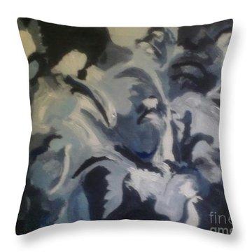 Acrylic Blues Throw Pillow