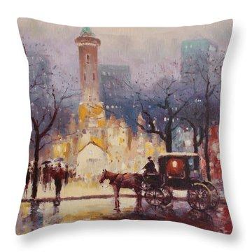 Acrylic Msc 054 Throw Pillow