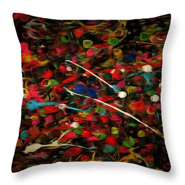 Acrylic Paint Throw Pillow by Anton Kalinichev