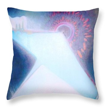 Throw Pillow featuring the painting Act Of Creation by Denise Fulmer