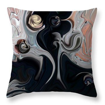 Throw Pillow featuring the digital art Act With Mystic Abstraction by Carmen Fine Art