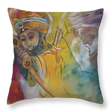 Action In Peace Throw Pillow