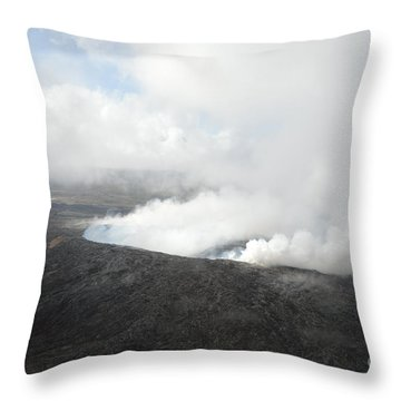 Active Volcano Throw Pillow by Renie Rutten