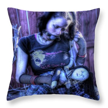 Actively Dying Throw Pillow by Matt Nelson