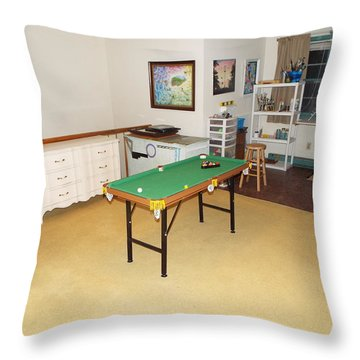 Activity Room Throw Pillow