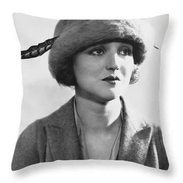 Actress Agnes Ayres Throw Pillow