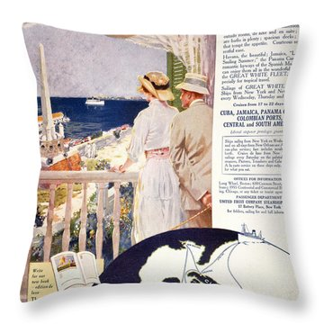 Ad: United Fruit Company Throw Pillow by Granger