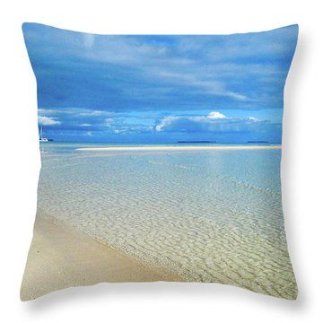 Adagio Alone In Ouvea, South Pacific Throw Pillow