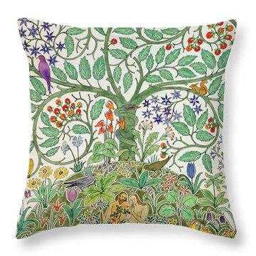 Adam And Eve Design  Throw Pillow
