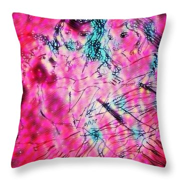 Adam And Eve The Creation Story Throw Pillow