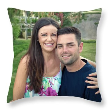 Adam And Lys Throw Pillow by Michael Pickett