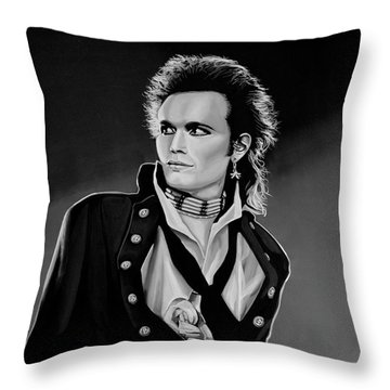 Adam Ant Painting Throw Pillow by Paul Meijering