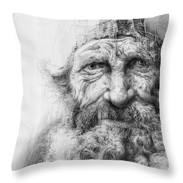 Adam. Series Forefathers Throw Pillow
