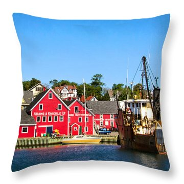 Adams And Knickle Fishing Company Throw Pillow
