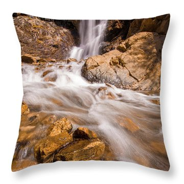 Adams Canyon Waterfall Flow Throw Pillow