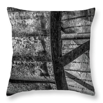 Adam's Mill Water Wheel Throw Pillow