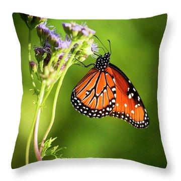 Addicted Queen Butterfly Throw Pillow