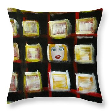 Addiction Throw Pillow