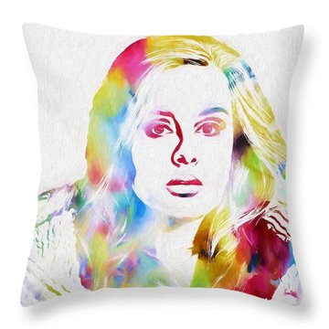 Adele Throw Pillow by Dan Sproul