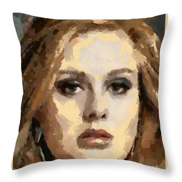 Adele Throw Pillow by Dragica Micki Fortuna