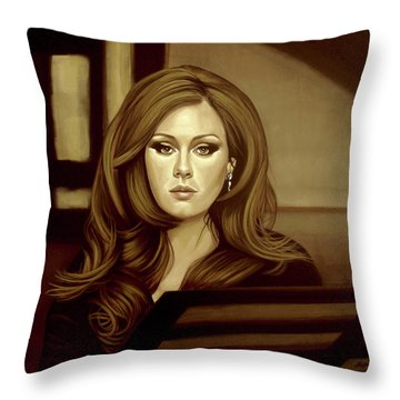 Adele Gold Throw Pillow