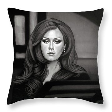 Adele Mixed Media Throw Pillow