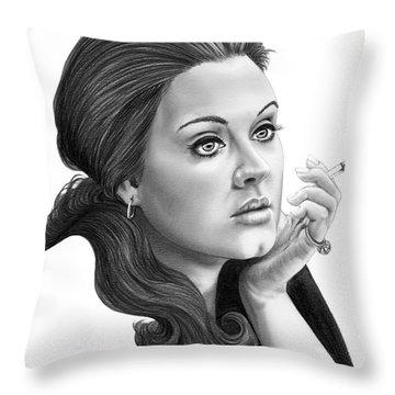 Adele Throw Pillow by Murphy Elliott