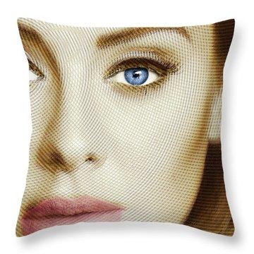 Adele Painting Circle Pattern 1 Throw Pillow by Tony Rubino