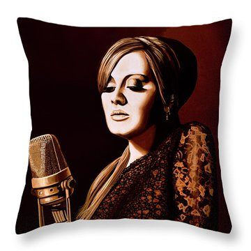 Adele Skyfall Gold Throw Pillow by Paul Meijering