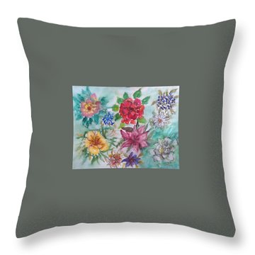 Adele's Garden Throw Pillow