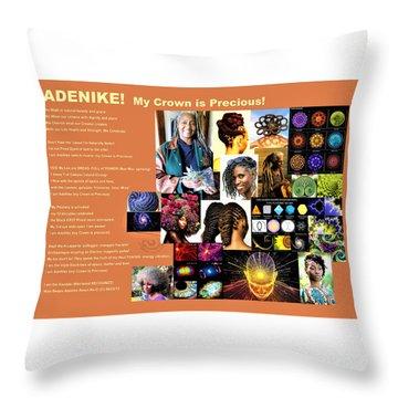 Adenike My Crown Is Precious Throw Pillow