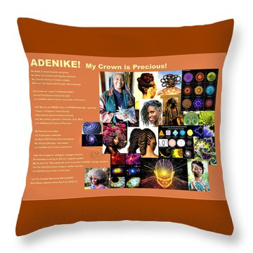 Adenike My Crown Is Precious Throw Pillow