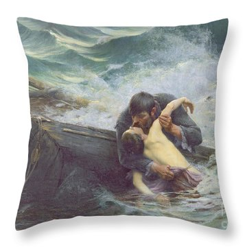 Adieu Throw Pillow by Alfred Guillou
