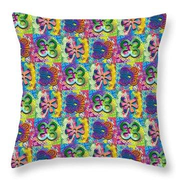 Adinkra Quilt 2 Throw Pillow