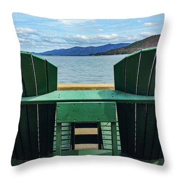Adirondack Chair For Two Throw Pillow
