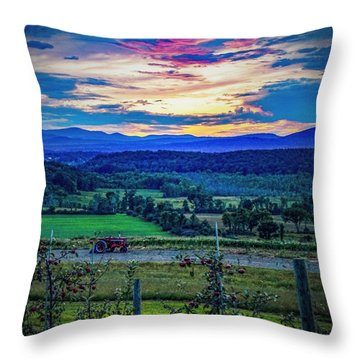 Throw Pillow featuring the photograph Adirondack Country by Kendall McKernon