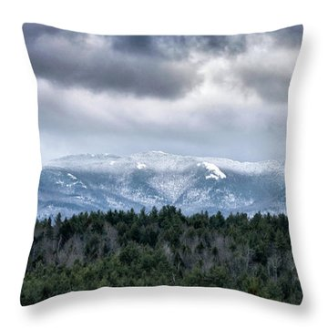 Throw Pillow featuring the photograph Adirondack High Peaks During Winter - New York by Brendan Reals