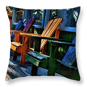 Adirondack Throw Pillow by Monte Arnold