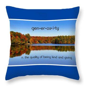 Adirondack October Generosity Throw Pillow by Diane E Berry