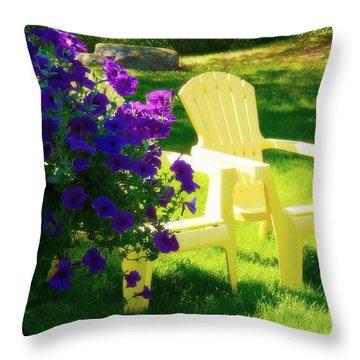 Adirondack Summer Days Throw Pillow