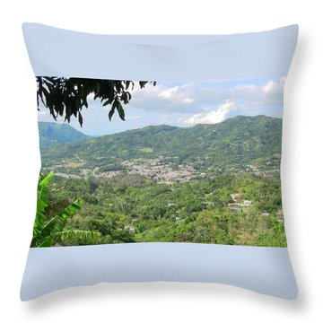 Adjuntas Town Throw Pillow