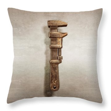 Adjustable Wrench Throw Pillows