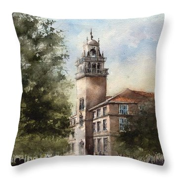 Administration Building At Texas Tech University Throw Pillow